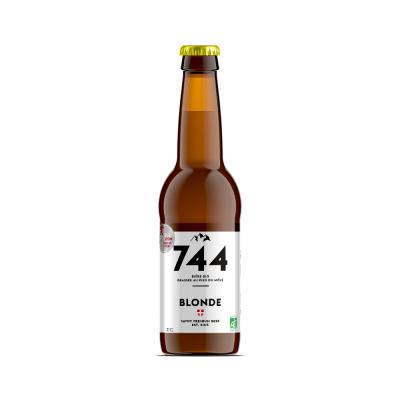 Bière blonde bio 33cl, Brasserie 744
