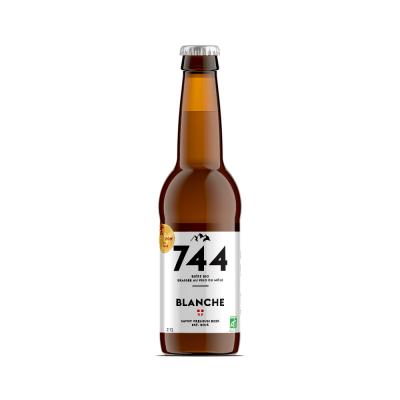 Bière blanche bio 33cl, Brasserie 744