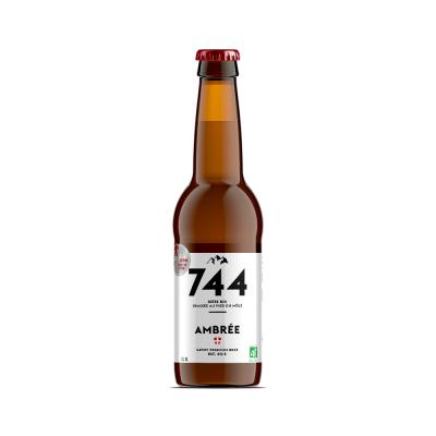 Bière ambrée bio 33cl, Brasserie 744