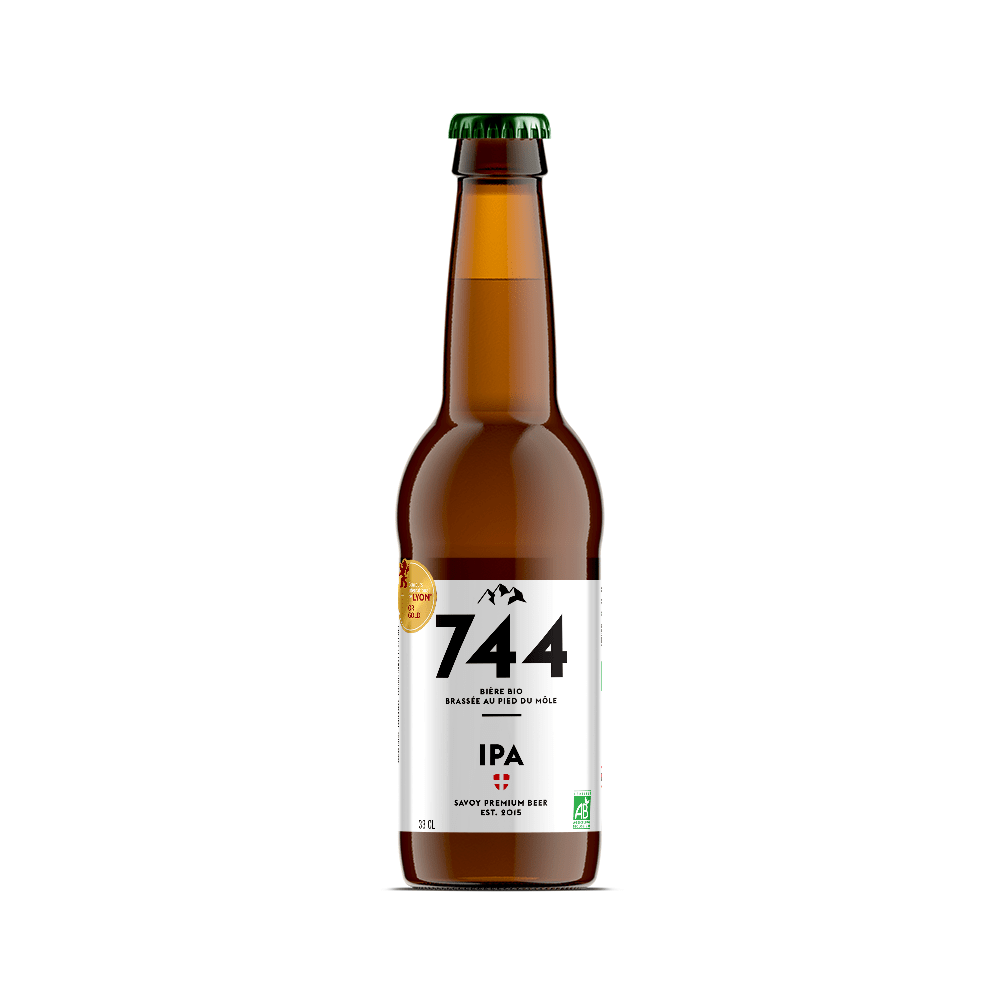 Bière Indian Pale Ale bio 33cl, Brasserie 744