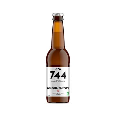 Bière Blanche verveine bio, Brasserie 744
